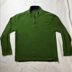 J.Crew 1/4 zip pullover sweater size large green